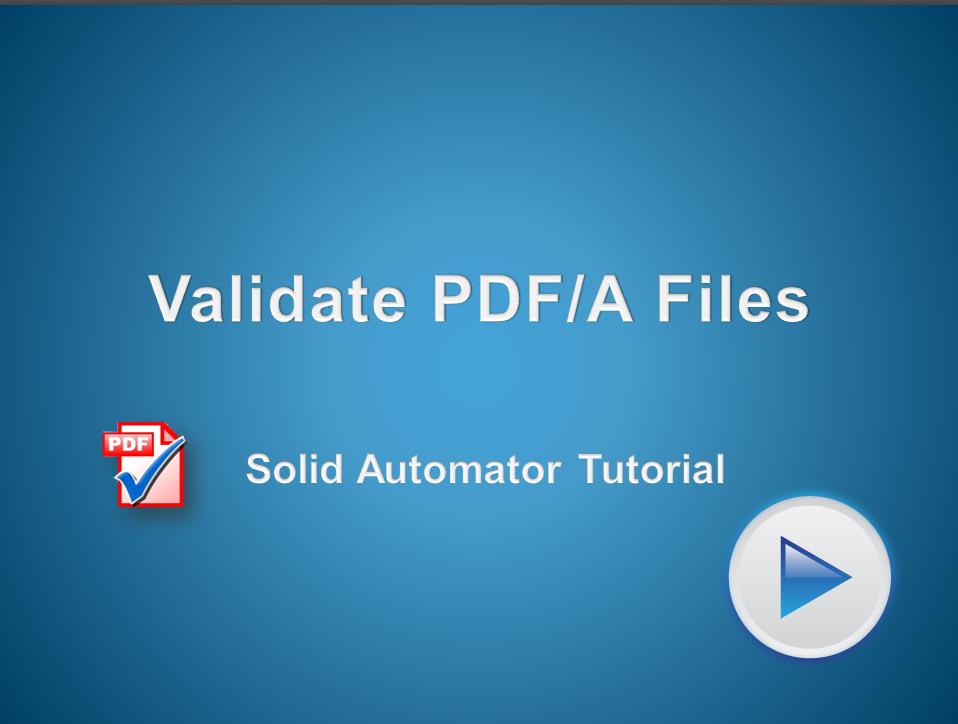 Automated Verification of PDF/A Files
