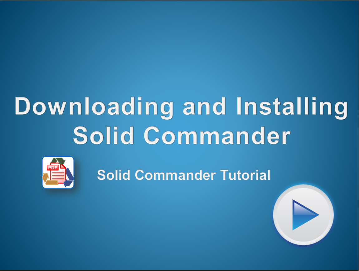 Download and install a trial version of Solid Commander