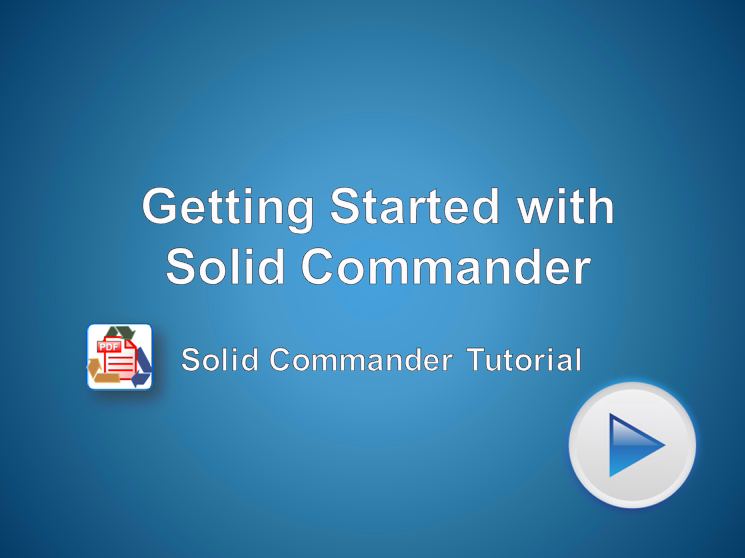 Getting Started with Solid Commander