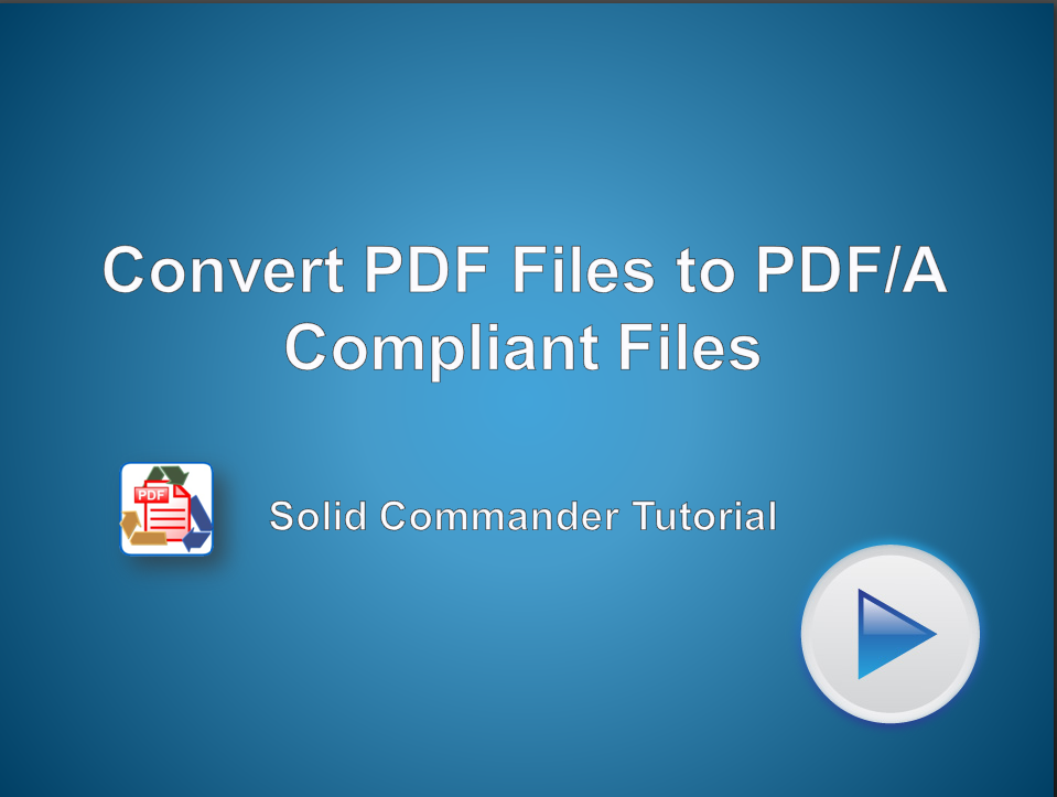 Automated Conversion of PDF Files to PDF/A Compliant Files