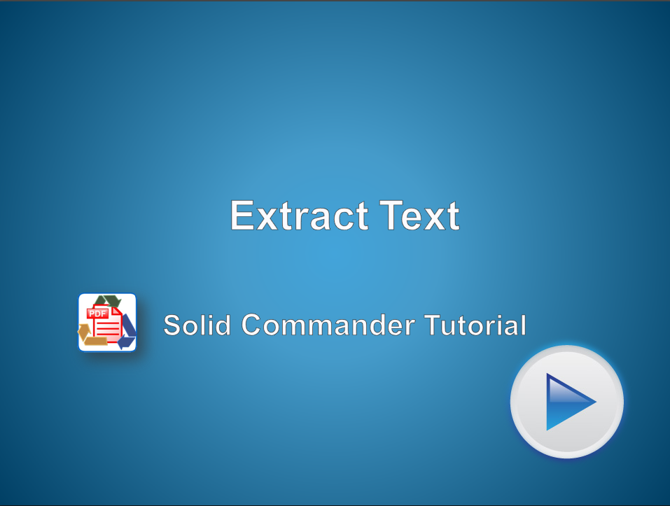 Automated Extraction of Text from PDF Files