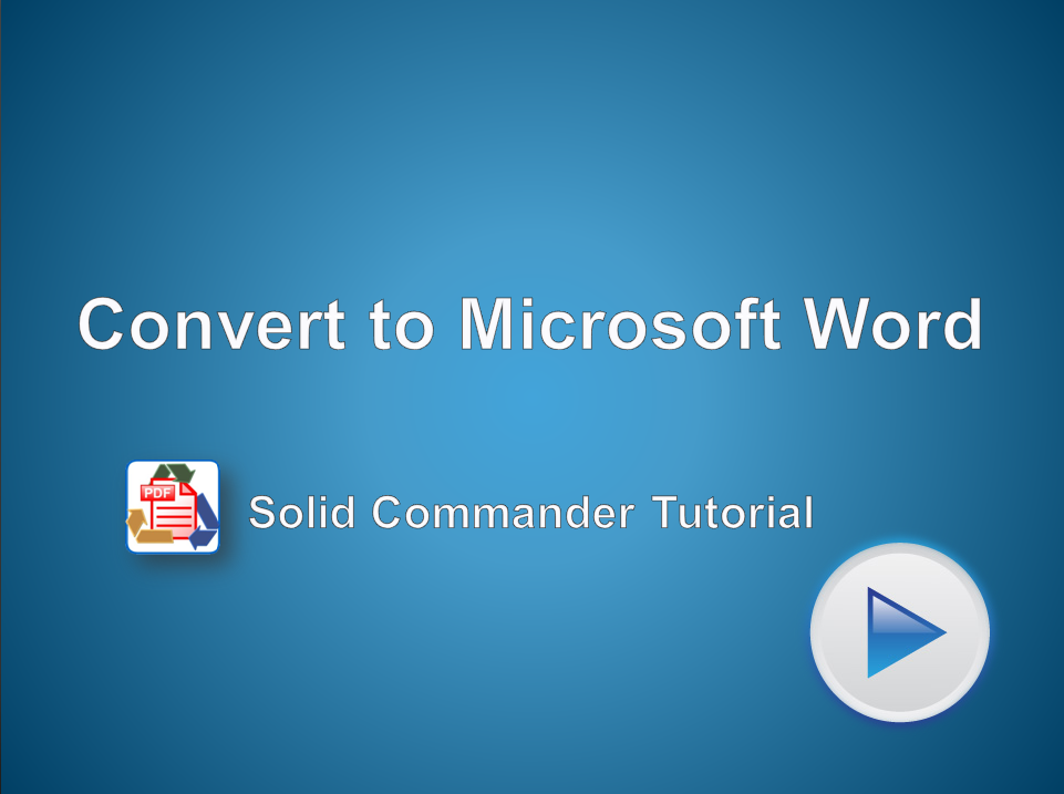 Automated Conversion of PDF Files to Microsoft Word Documents