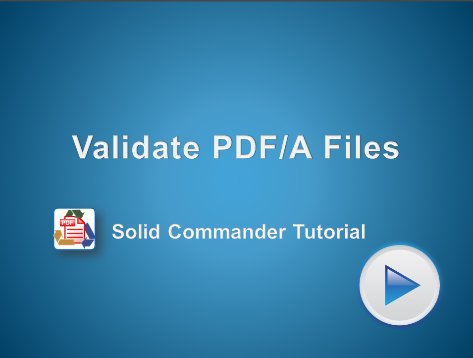 Automated Verification of PDF/A Files