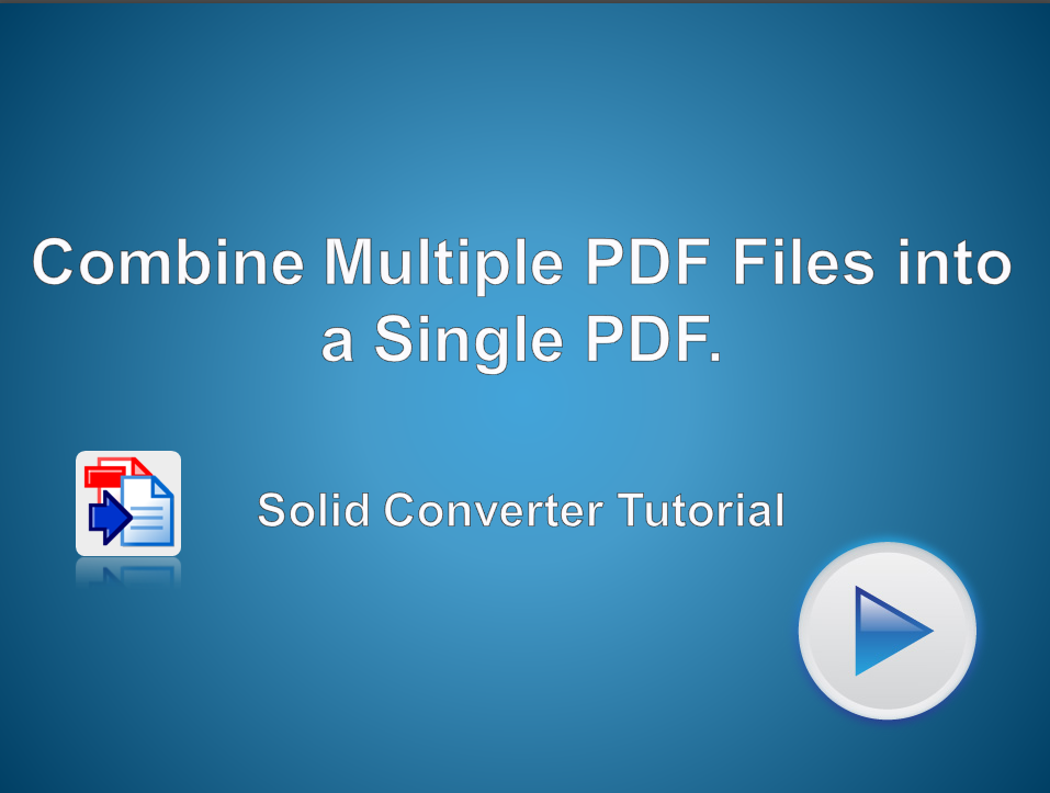 Combine Multiple PDF files into a Single PDF