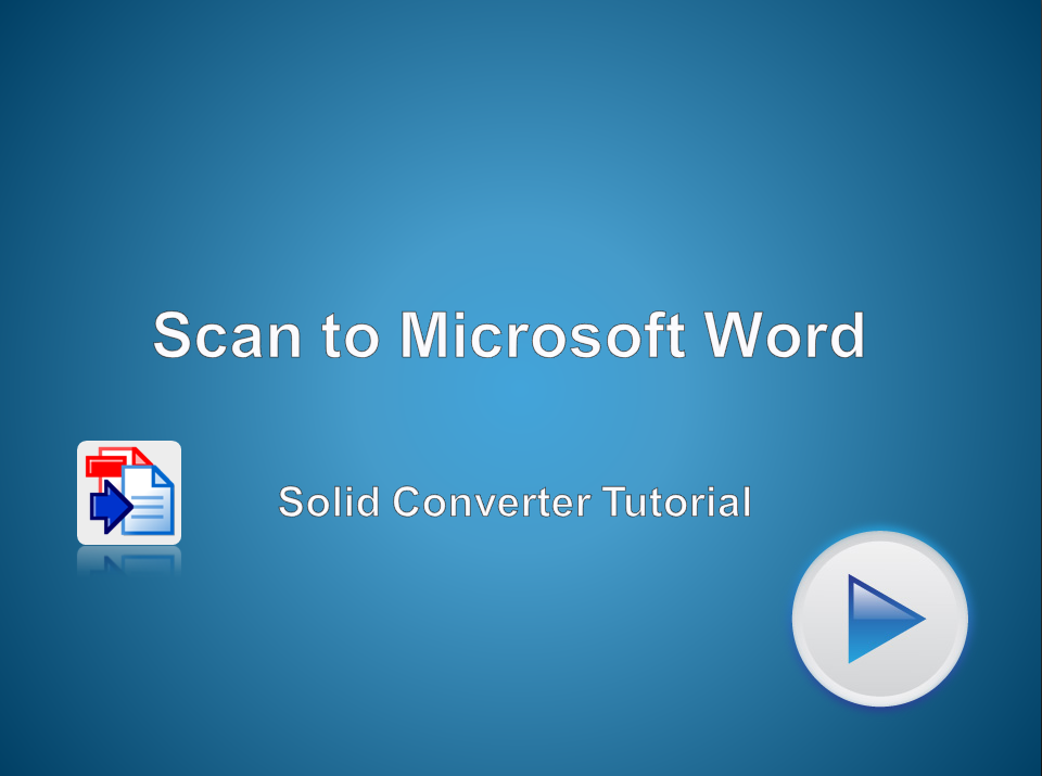 Scan To Word - Using the Solid Ribbon in Microsoft Word