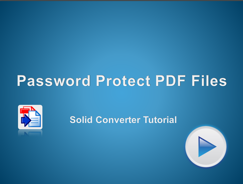 Password Protect your PDF Files