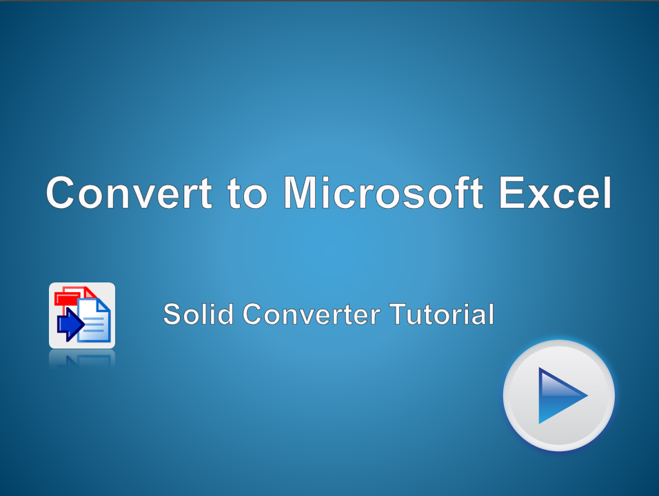 PDF to Microsoft Excel Converter
