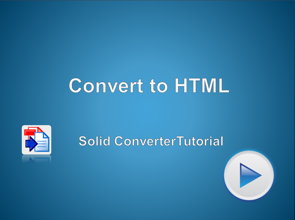 Convert to HTML