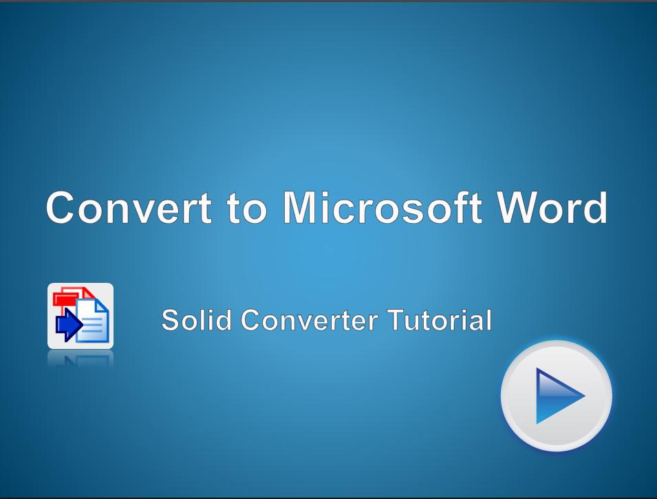 PDF to Microsoft Word Converter