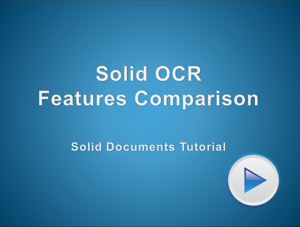 Solid OCR Features Compared to Other OCR Leaders