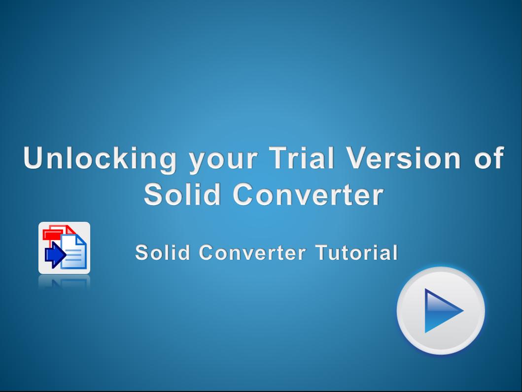 Unlocking Solid Converter