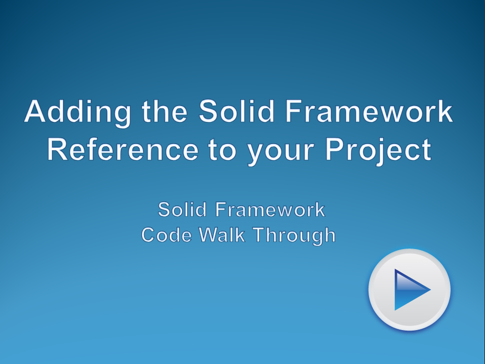 Adding the Solid Framework SDK Reference into your Project