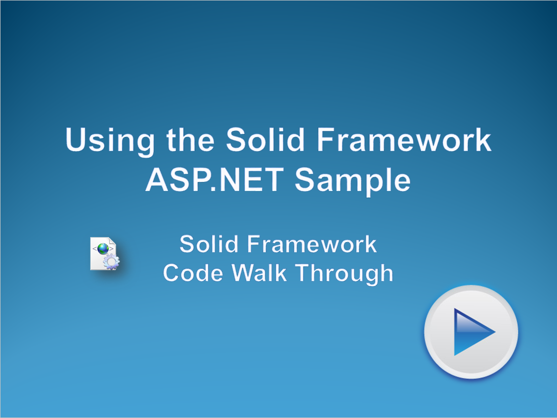 Using the Solid Framework ASP.NET Sample