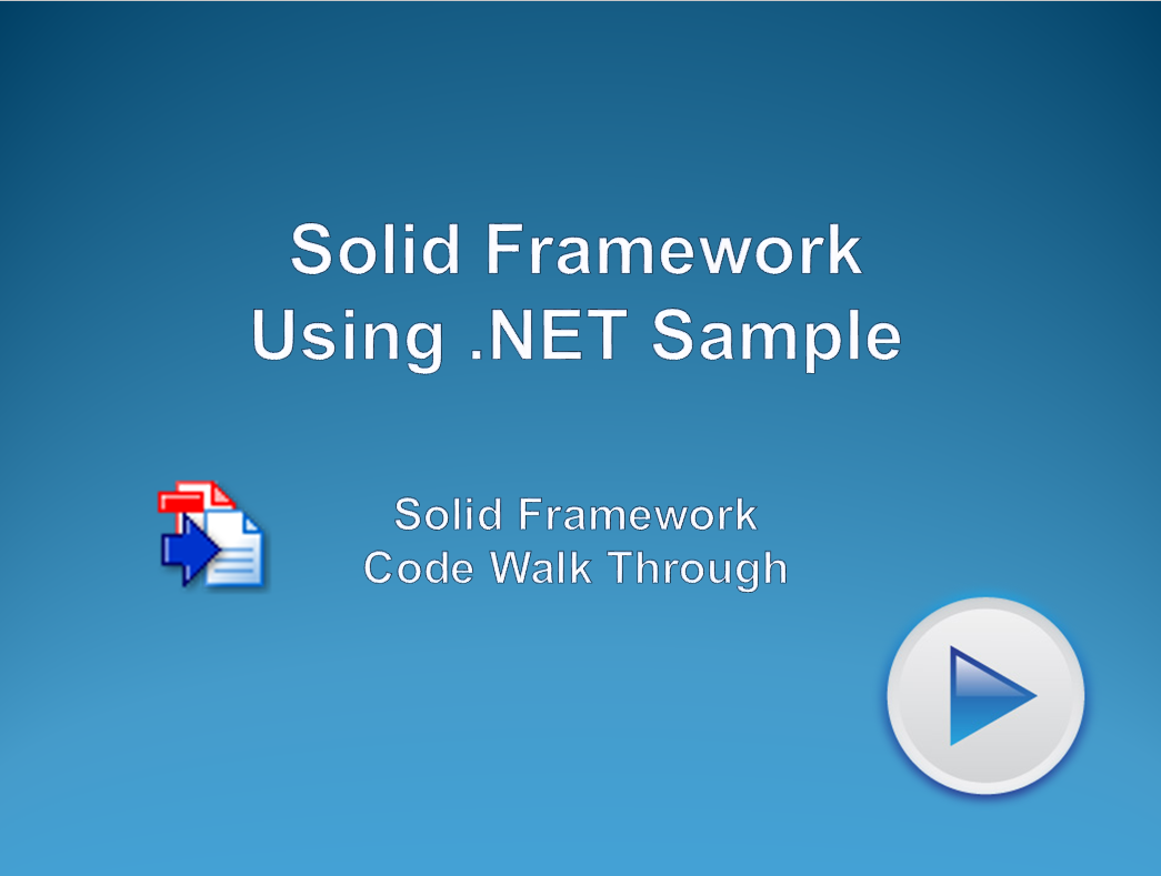 Using Solid Framework Converter with .NET Sample
