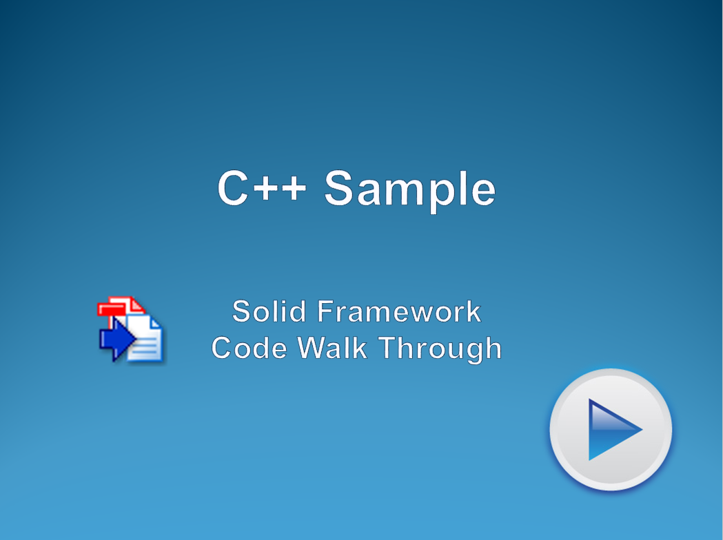 Using the Solid Framework C++ Sample