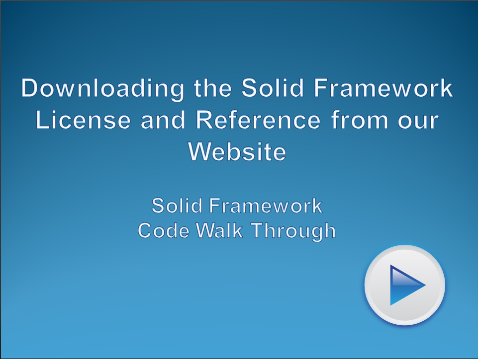 Using the Solid Framework Developers Portal