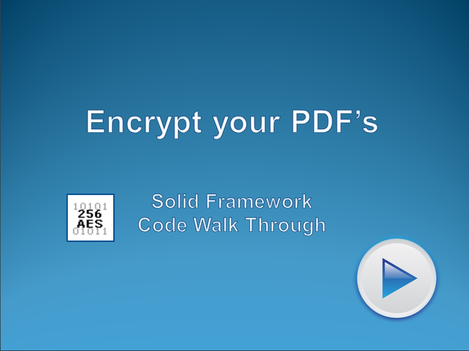 Secure PDF files Using Encryption