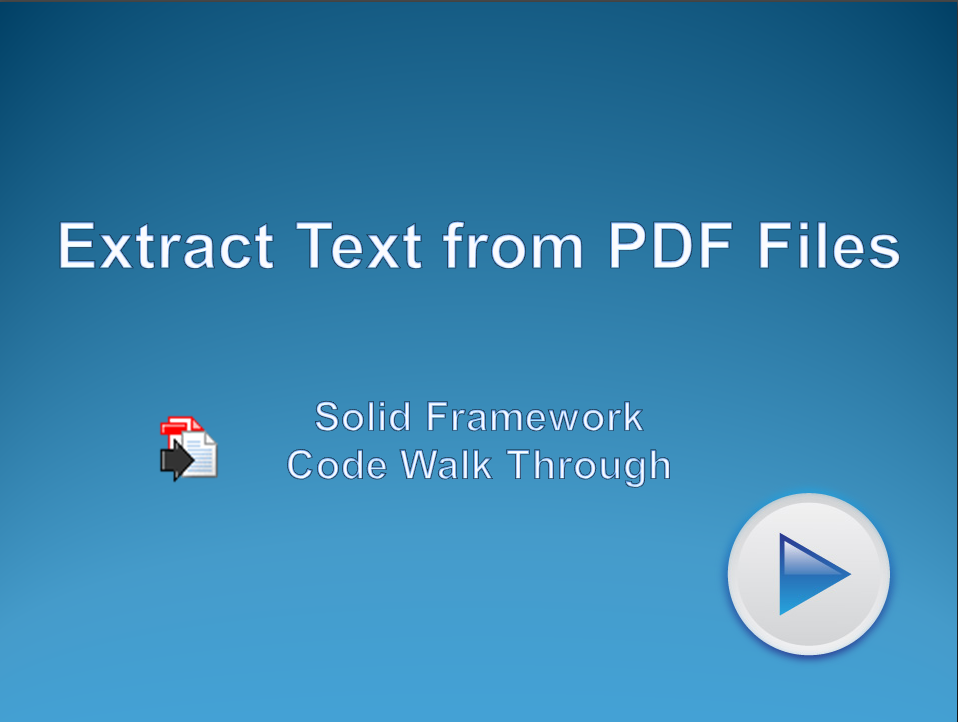 Extract Text from Existing PDF Files