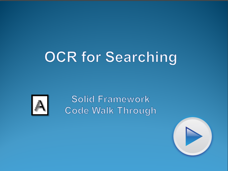 Using OCR for Searching
