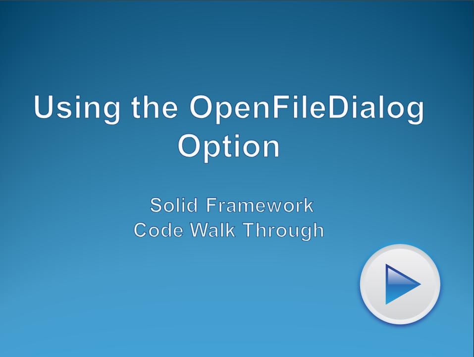 Using OpenFileDialog