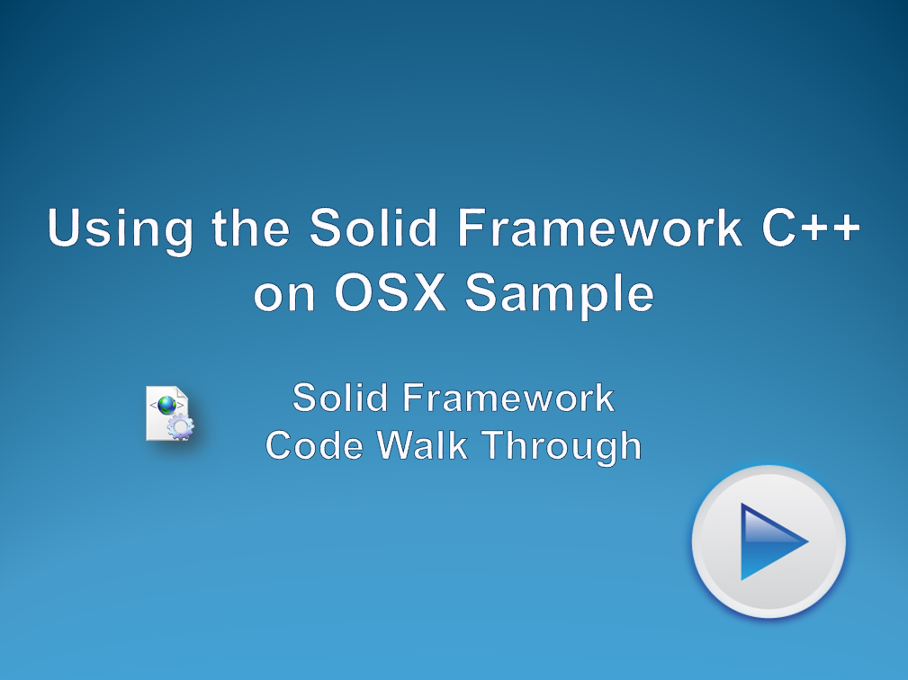 Using the Solid Framework C++ on OSX Sample