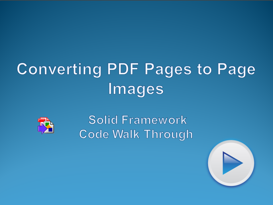 Converting PDF Pages to Page Images