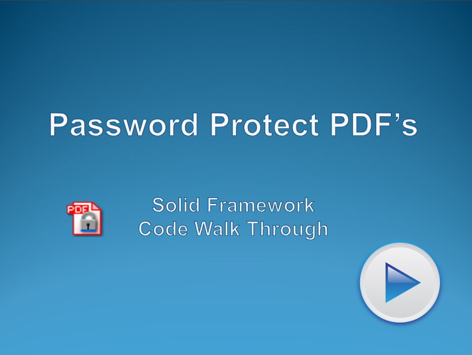 Protect PDF Files Using Passwords
