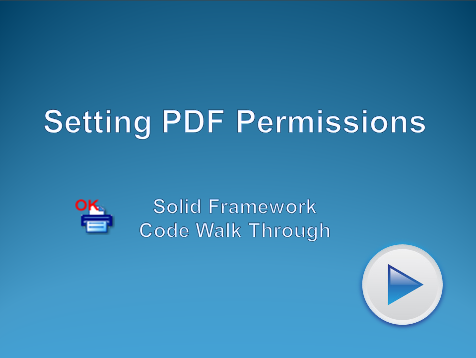 Control access to PDF files with permissions