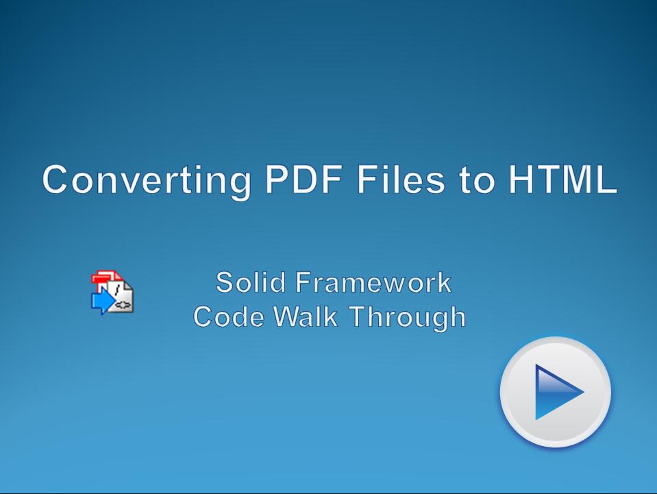 Convert PDF files to HTML