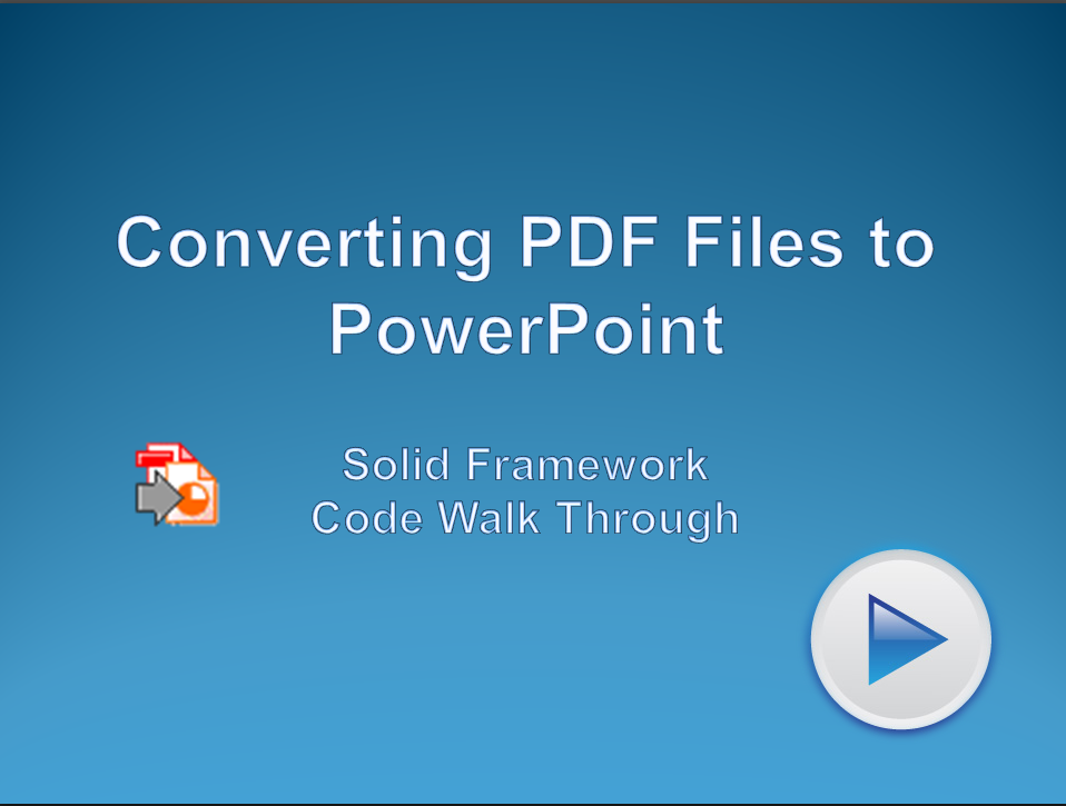 Convert PDF files to PowerPoint