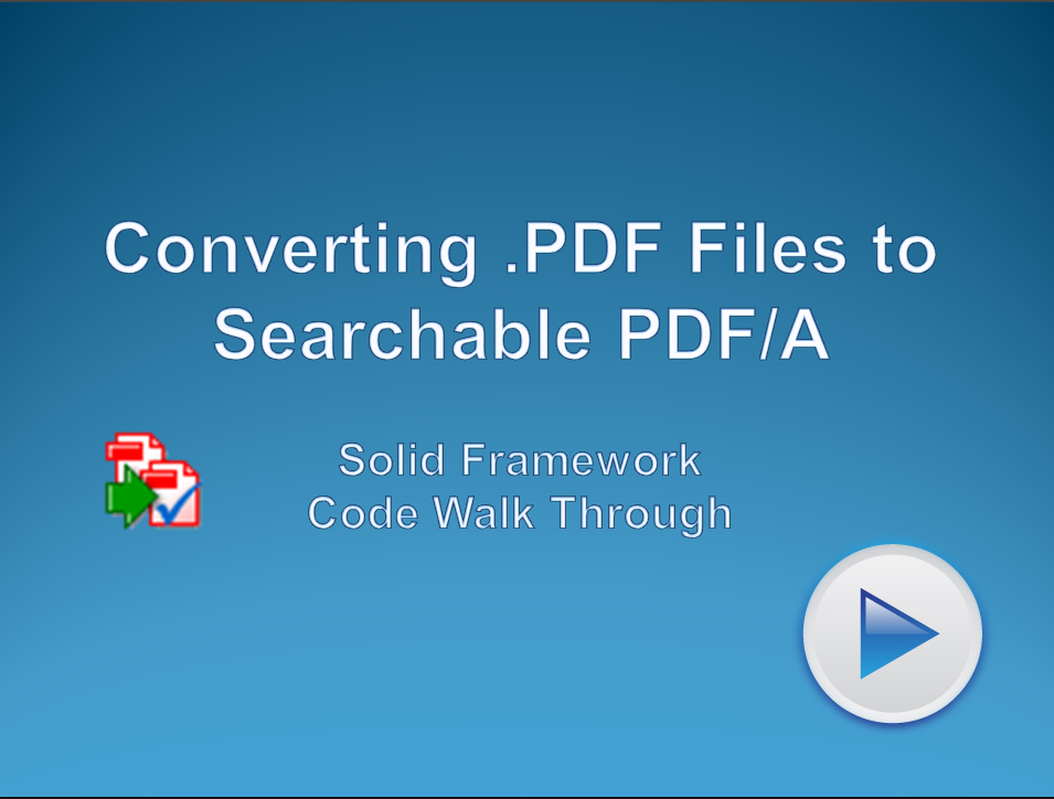 Convert PDF to Searchable PDF/A-2b