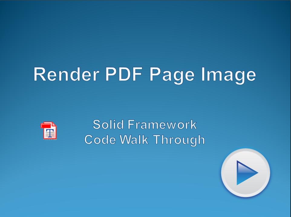 Render PDF Page Image