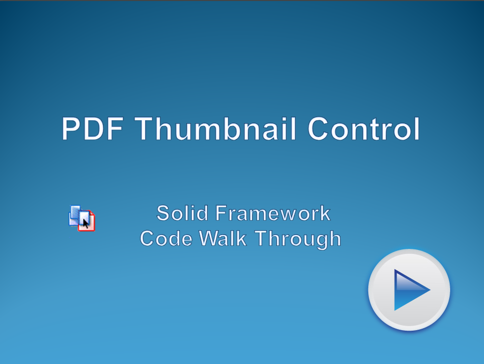 Using PDF Thumbnail Control