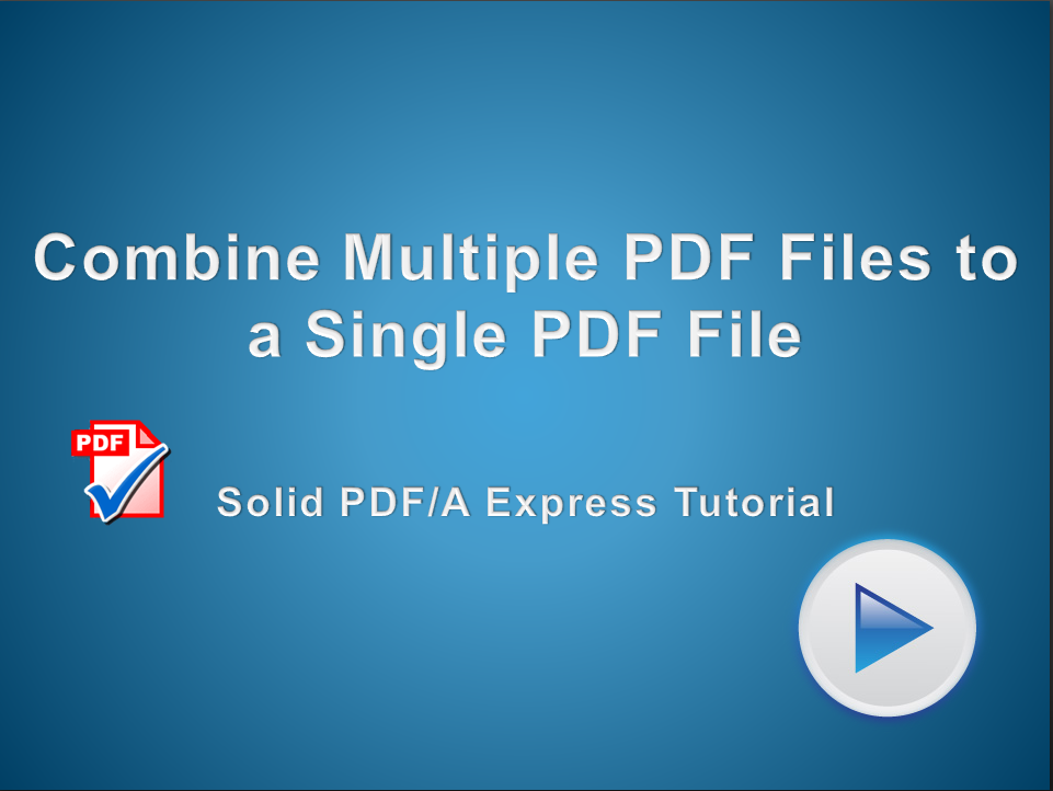 Combine Multiple PDF Files to a Single PDF File
