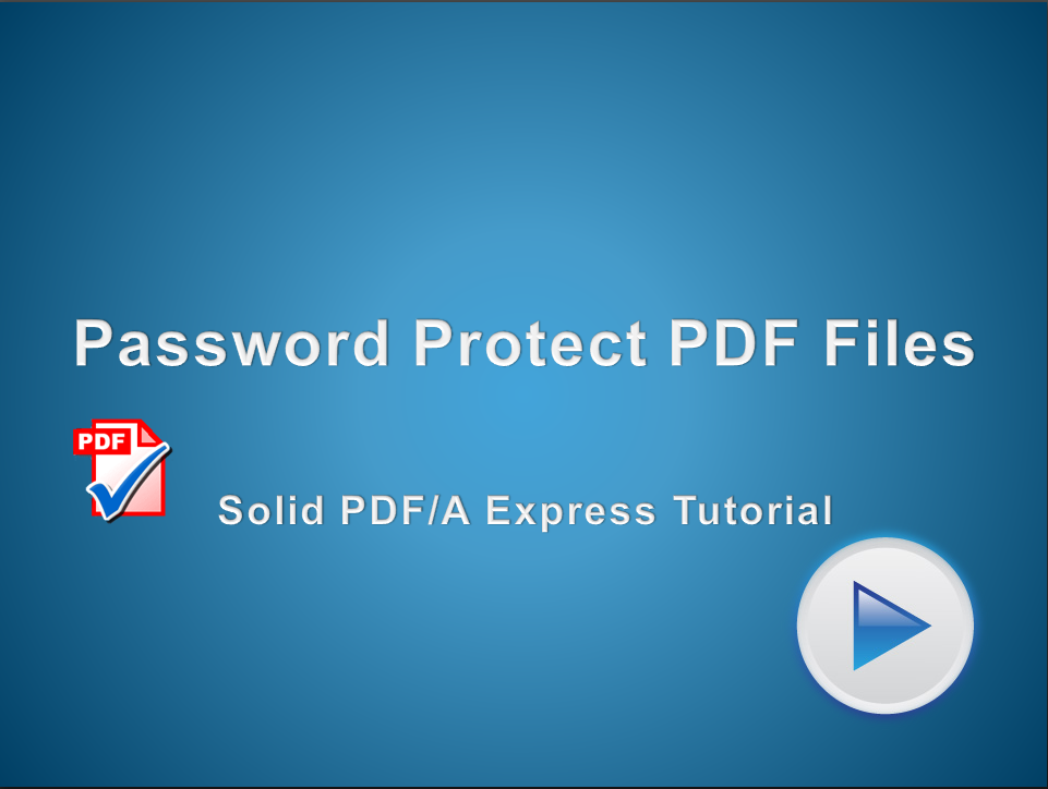 Password-Protect your PDF Files
