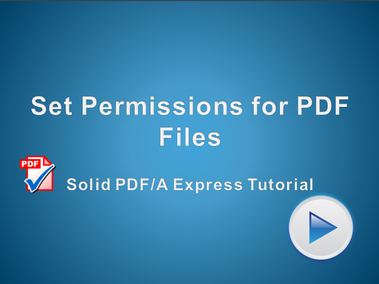 Set PDF Permissions