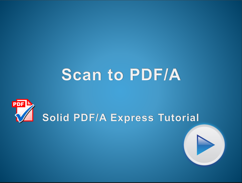 Scan to PDF/A