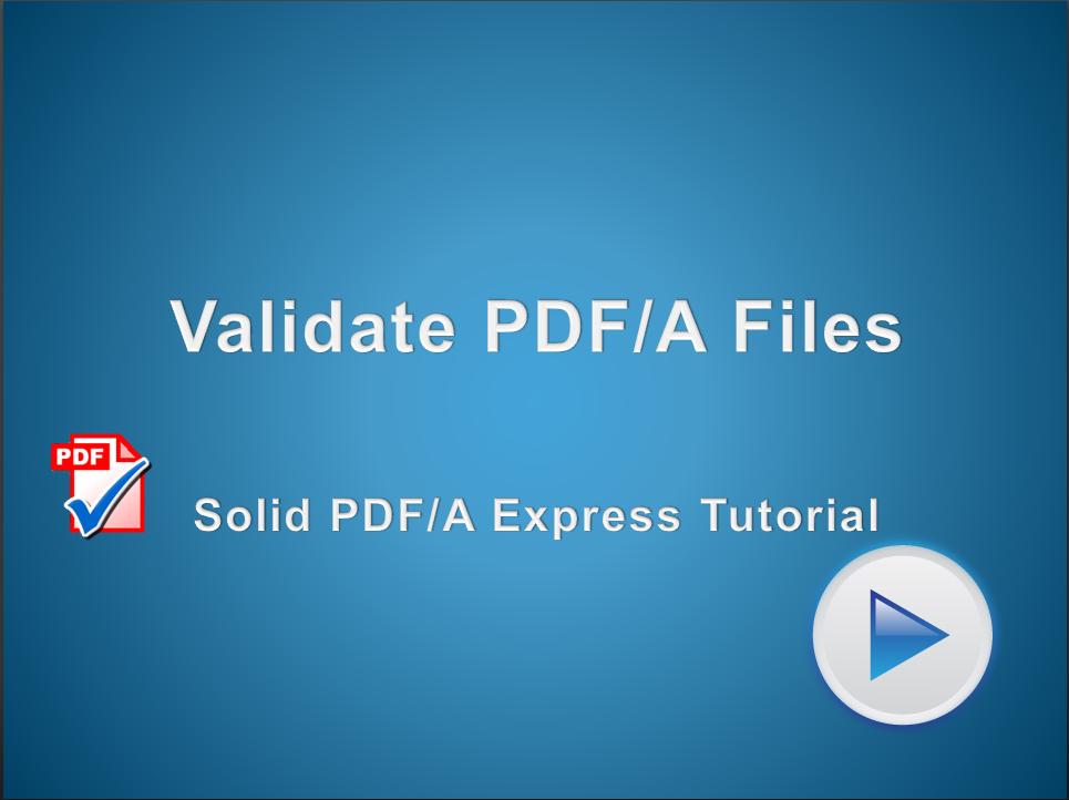 Validate PDF/A
