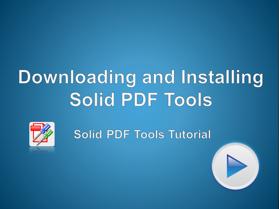 Download and install a trial version of Solid PDF Tools