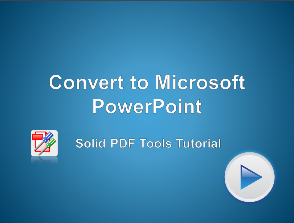 Convert PDF Files to Microsoft PowerPoint