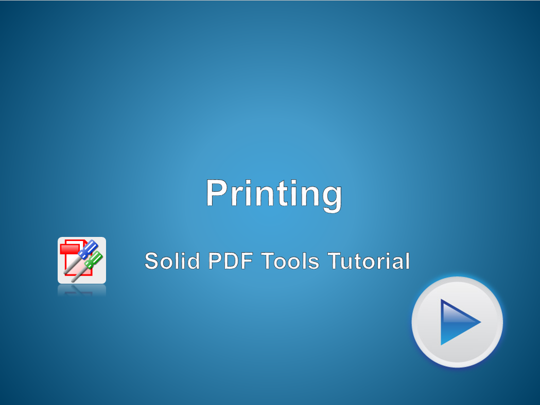 Getting Started with Solid PDF Tools