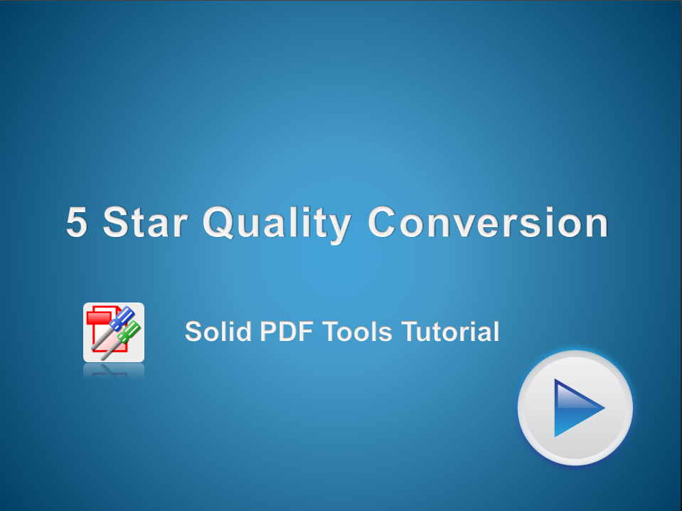 5 Star Quality Conversion with Solid OCR