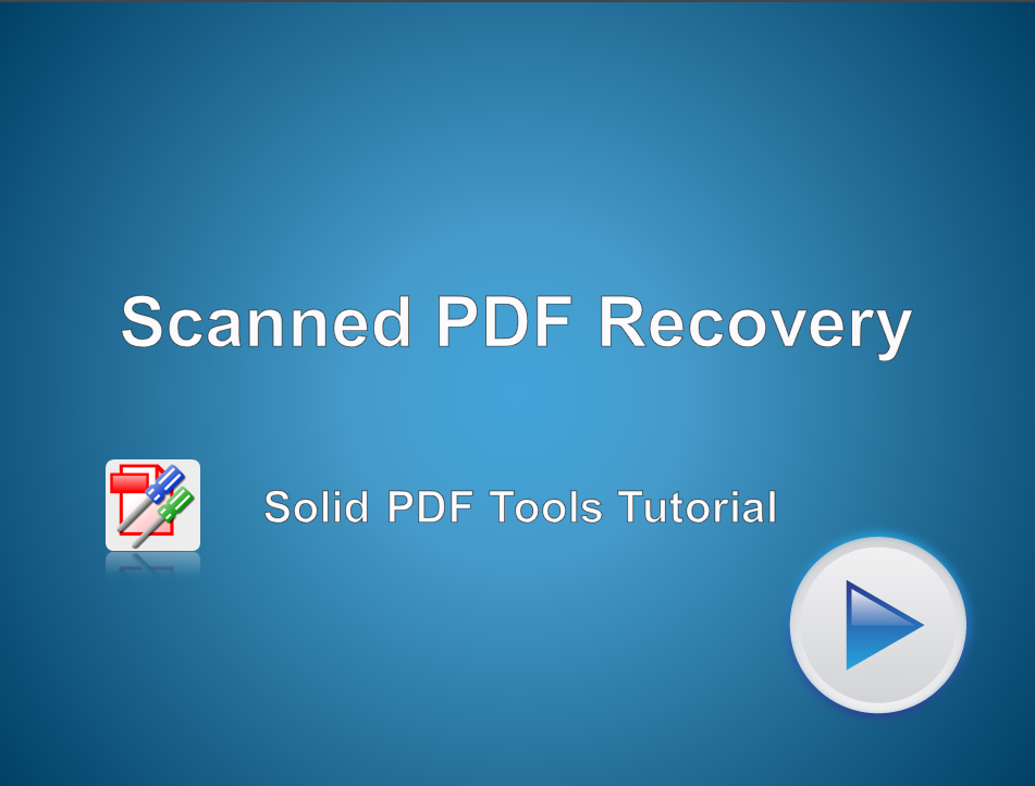 Scanned PDF Recovery