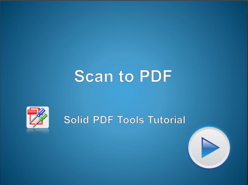 Сканирование в PDF