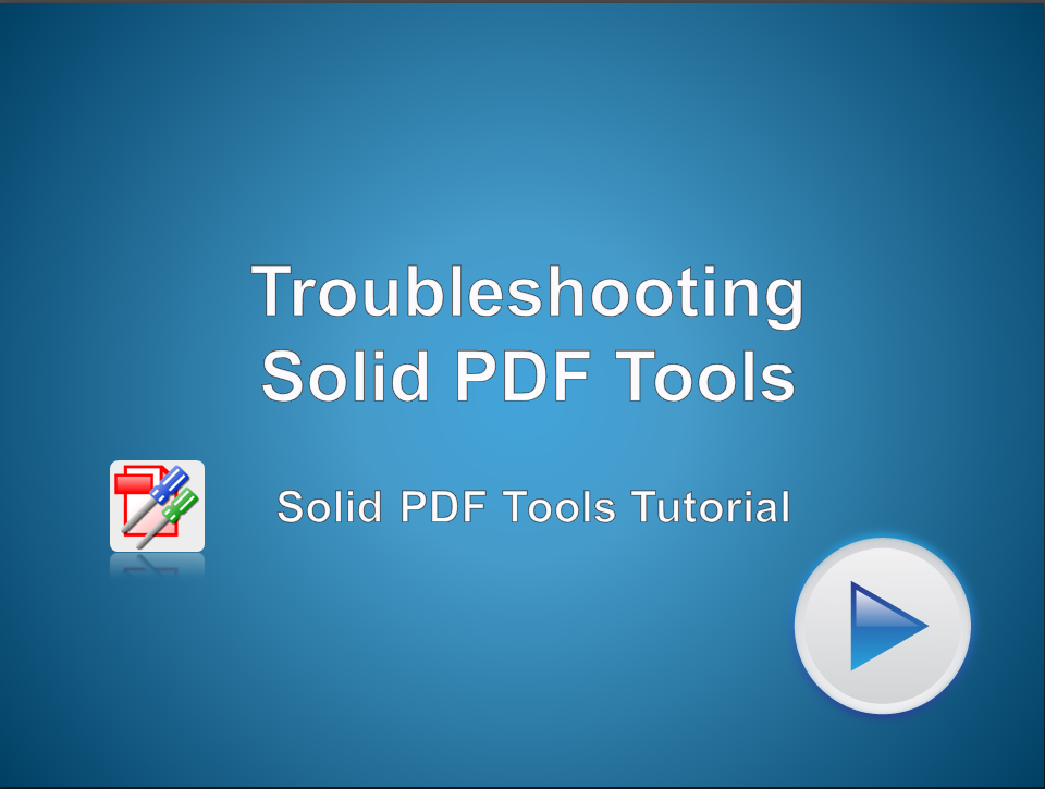 Troubleshooting Solid PDF Tools