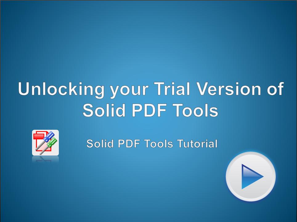 Unlocking Solid PDF Tools