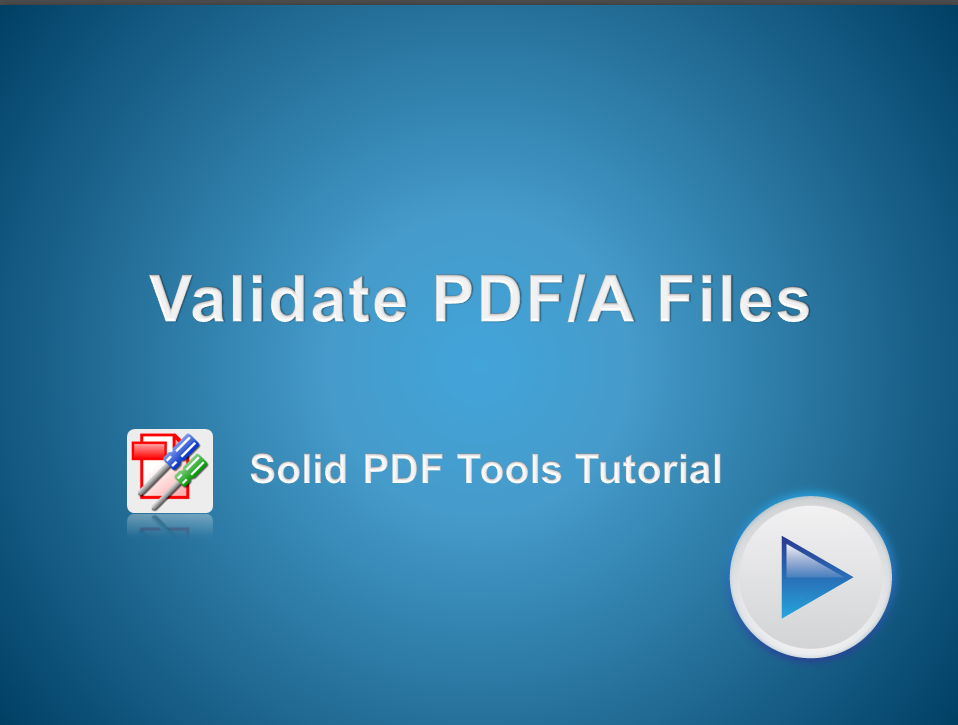 Validate PDF/A Files
