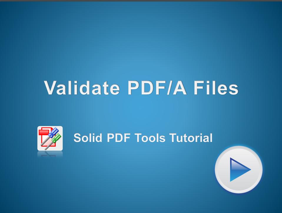 Validate PDF/A Files