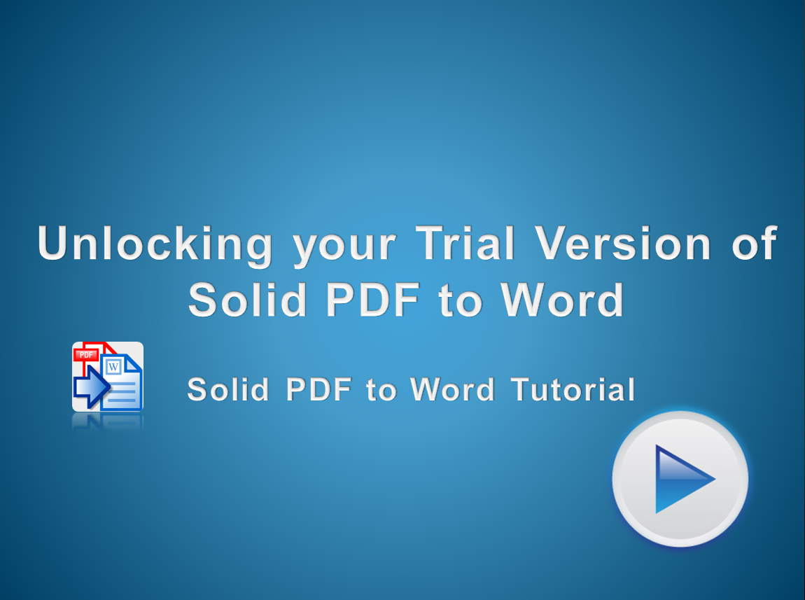 Unlocking Solid PDF to Word