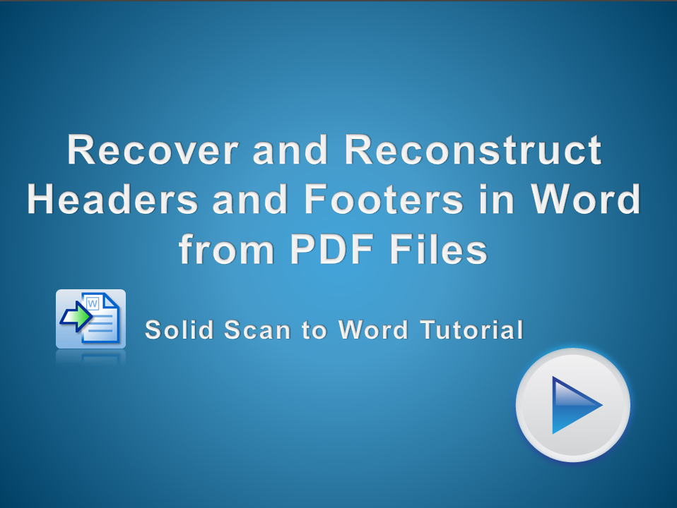 Reconstruct Headers and Footers from a PDF file to Microsoft Word